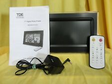 "TDE SYSTEMS DPH3070A Digital 7"" Photo Picture Frame Black USB w/ Power Adapter +"