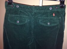 Polo Ralph Lauren Boys Green Corduroy Pants 18 x 31