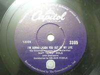 "NAT KING COLE 3305  RARE 78 RPM RECORD 10"" PURPLE VG"