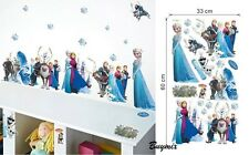 Disney Frozen Wall Art Stickers Girls Bedroom Child Decoration Elsa Anna Olaf