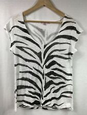 Calypso St Barth Women's Linen Striped Tee Size M