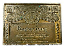BUDWEISER Belt Buckle Lager Beer Anheuser Busch Brass Alcohol King of Beers