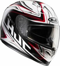 NEW HJC Helm FG ST Crucial weiss rot schwarz Gr. L =59/60 mit Sonnenblende