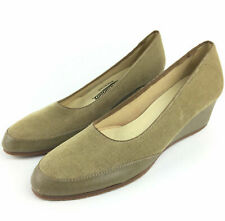 Vtg Browsabouts Womens 9.5 Brown Corduroy Wedge 2 in. Heels, Usa - New Insoles