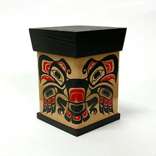 Northwest Coast Native Bentwood Box Cedar Steam-Bent Haida Style