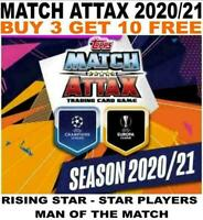 MATCH ATTAX 2020/21 CHAMPIONS LEAGUE  RISING STAR/ STAR PLAYER/ MAN OF THE MATCH