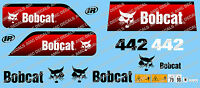 BOBCAT 442 MINI DIGGER DECAL SET