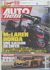 AUTO HEBDO n°2037 NEUF du 11/11/2015 : McLaren-Honda - Renault RS01 - Jim Clark