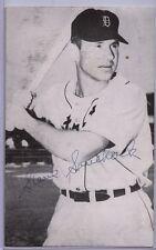 1954 3 X 5 Photocard Steve Souchock Detroit Tigers Autograph