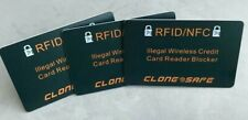 CLONE SAFE®️ RFID & NFC Wireless Credit Card Illegal Reader Shield - Blocker