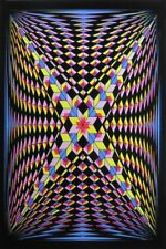 DOUBLE V - BLACKLIGHT POSTER - 24X36 FLOCKED ILLUSION 52528