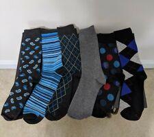 Hanes Mens Socks 6-Pairs Dress Casual Crew Flat Knit Socks 6-12 Size
