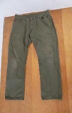 Polo Ralph Lauren Men's Jeans Sz W 34 X 30 L Olive Straight Leg 5 Pockets Logo