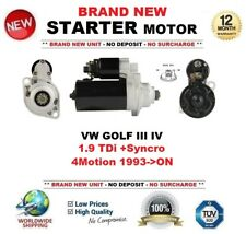 Per VW Golf III IV 1.9 TDI + Syncro 4 Motion 1993-ON Motore di Avviamento 2.0 KW 10 DENTI