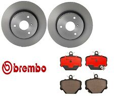 For Smart Fortwo Front Brake Kit Solid Coated Disc Rotors Ceramic Pads Brembo