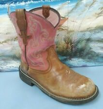 ARIAT BOOTS 10010808 MODEL SIZE 9 B WOMENS WESTERN PINK/BROWN BOOT