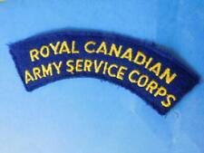 ROYAL CANADIAN ARMY SERVICE CORPS SHOULDER FLASH PATCH BADGE VINTAGE