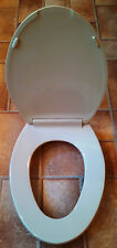 Beneke Quality Solid Plastic Elongated Front Toilet Seat 520 - Briggs PARCHMENT