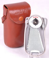 DELTA FAN OUT FLASH BULB UNIT-Brown Leather Case-Sync Cord-Vtg Photography