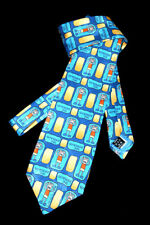 NECKTIE Stressed Out Bang on the Door by Santoro Graphics 1998 Novelty Fun TIE