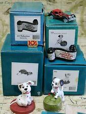 WDCC 101 Dalmatians - Rolly Lucky + Cruella Car ornament & Opening Title pin NIB