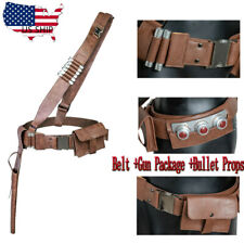 The Mandalorian PU Leather Cosplay Belt With Bullet Metal Buckle Full Set Props