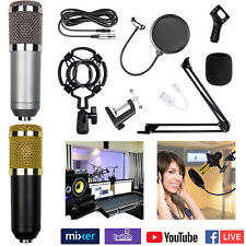 BM-800 Professional Broadcasting Studio Recording Microphone Mic Kit Condenser