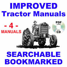 Ford 640 650 660 850 860 Tractor SERVICE, PARTS, OWNERS -4- Manuals 1953-1964 CD