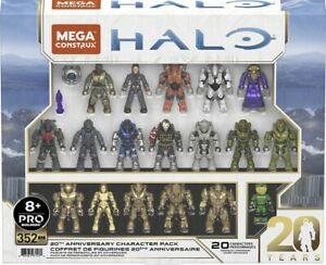 Mega Construx Pro Halo 20th Anniversary Character Pack Amazon Exclusive