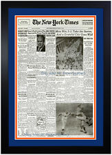 🏆 New York Mets Times 1969 World Series Champions Reprint Custom Framed! New 🏆