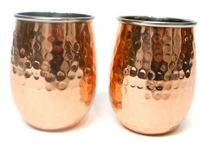 "ODI Hammered Copper Brass Knuckle Cup 4.5"" Tall, 3.5"" in Diameter"