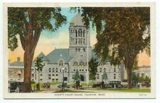 Taunton MA County Court House Postcard - Massachusetts