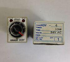 NUOVO OMRON h3y-4ac2410m TIMER 4pdt min su TIMER 0.5-10min 24VAC h3y-4