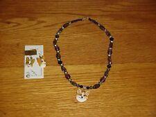 Pembroke Welsh Corgi Pierced Earrings And Necklace