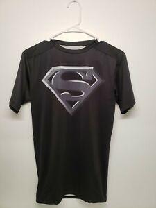 Under Armour Alter Ego Superman Compression Shirt Black Men's Size M  Slim Fit