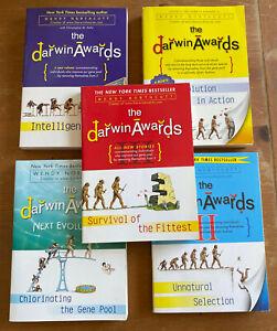 The darwin Awards Paperback 5 Books Book Lot Northcutt Survival Evolution EUC