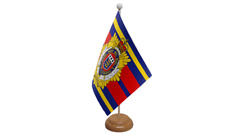Royal Logistic Corps Military Table Flag with Wooden Stand