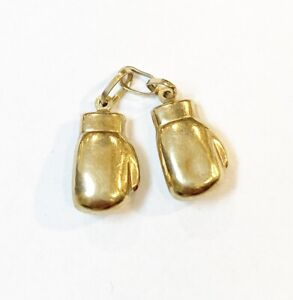 Boxing Gloves Charm Vintage 9ct Gold 375 Charms Pendant 4.5g Cg64