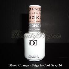 DND Daisy Soak Off Gel Mood Change Beige to Cool Gray 24 LED/UV 15mL gel NEW!