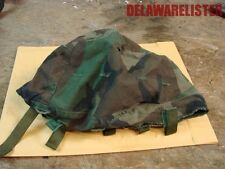 **US Orig. Military Army Troop Kevlar/Pasgt Steel Pot Helmet Woodland Camo Cover