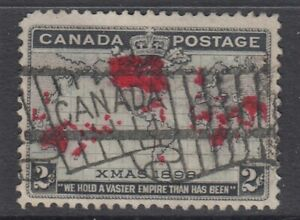 "Canada Scott #85  2 cent black, lavender & carmine ""Imperial Penny"" F"