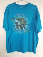 Nice! Columbia PFG Mens Performance Fishing Gear Tshirt Size Large Blue