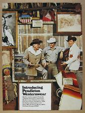 1976 Pendleton Western Wear 'Introducing' coat shirt sweater vintage print Ad