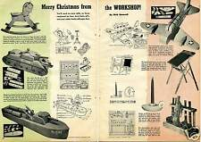 1943 2 Page Article Merry Christmas from the Workshop Handmade Wood Toy How To
