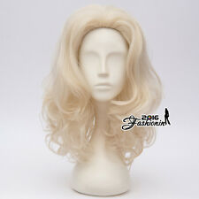 40cm Lolita  Dolly Parton Light Blonde Curly Cosplay Anime Wig Heat Resistant