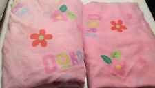 NICKELODEON Dora The Explorer Toddler/Crib Flat And Fitted Bed Sheets
