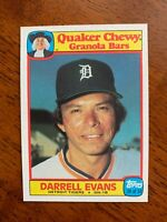 1986 Topps Quaker Chewy Granola Bars #24- Darrell Evans, Detroit Tigers