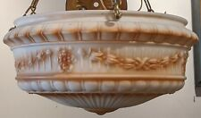 Turn of the Century Milk Glass Colored Classical Neo Beaux Ceiling Light