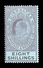 Gibraltar 1903 EDVII 8s dull purple & black/blue (SG 54) MVLH £160 / $210