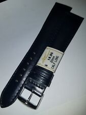 ZRC France Navy Blue Genuine Calfskin 20mm LONG Watch Band Chrome Buckle $16.95